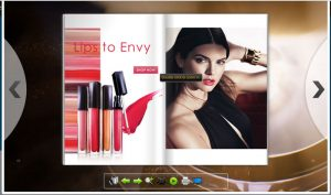 Screenshot of Estee Lauder HTML5 Flipbook