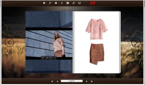 H&M HTML5 Flipbook example